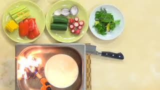 Салат с копченой сметаной