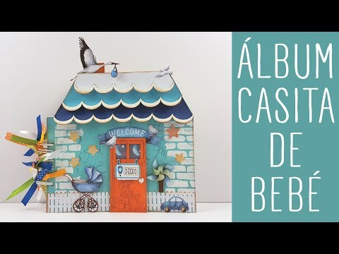 Scrapbooking tutorial: álbum casita de bebé con Kora Projects