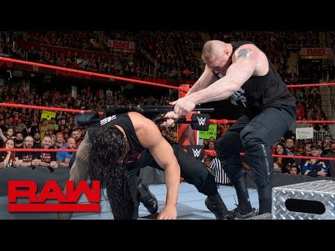 Brock Lesnar brutalizes injured Roman Reigns: Raw, March 26, 2018