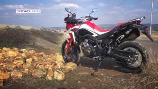 Honda Africa Twin Road test by 2WheelsTV