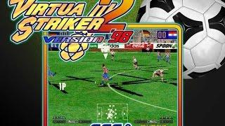 Virtua Striker 2 version 98 (1CC) - Partida comentada en español + Recopilación de golazos