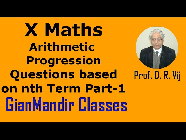 X Maths | Arithmetic Progression | Questions based on nth Term Part-1 by Preeti Ma'am
