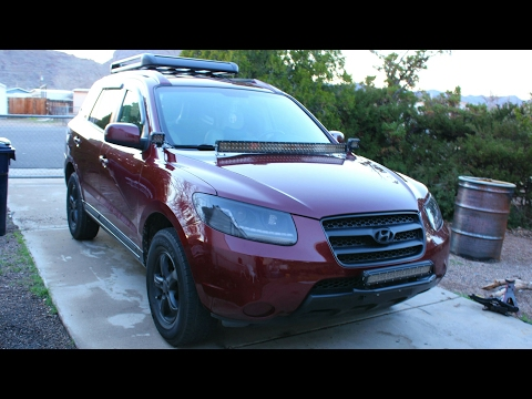 "Led light bar 42"" & 20"" on a Hyundai Santa fe"