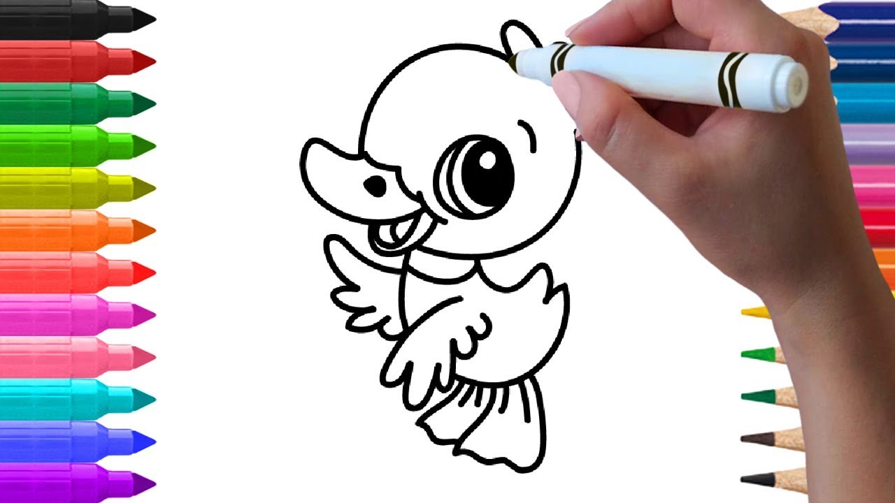 how to draw duck for kid