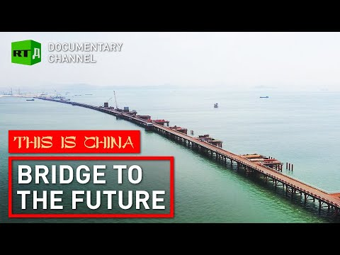 China building incredible tunnel bridge across Pearl River | This is China