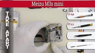 How to disassemble 📱 Meizu M3s mini (Y685C) Take apart Tutorial