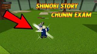 PARTICIPAR EN EL EXAMEN DE CHUNIN! Prueba de examen Shinobi Story Chunin [ROBLOX]