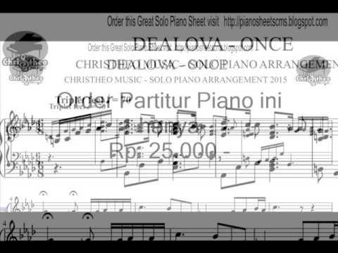 Dealova - ONCE , Christheo Music Solo Piano Sheet - YouTube