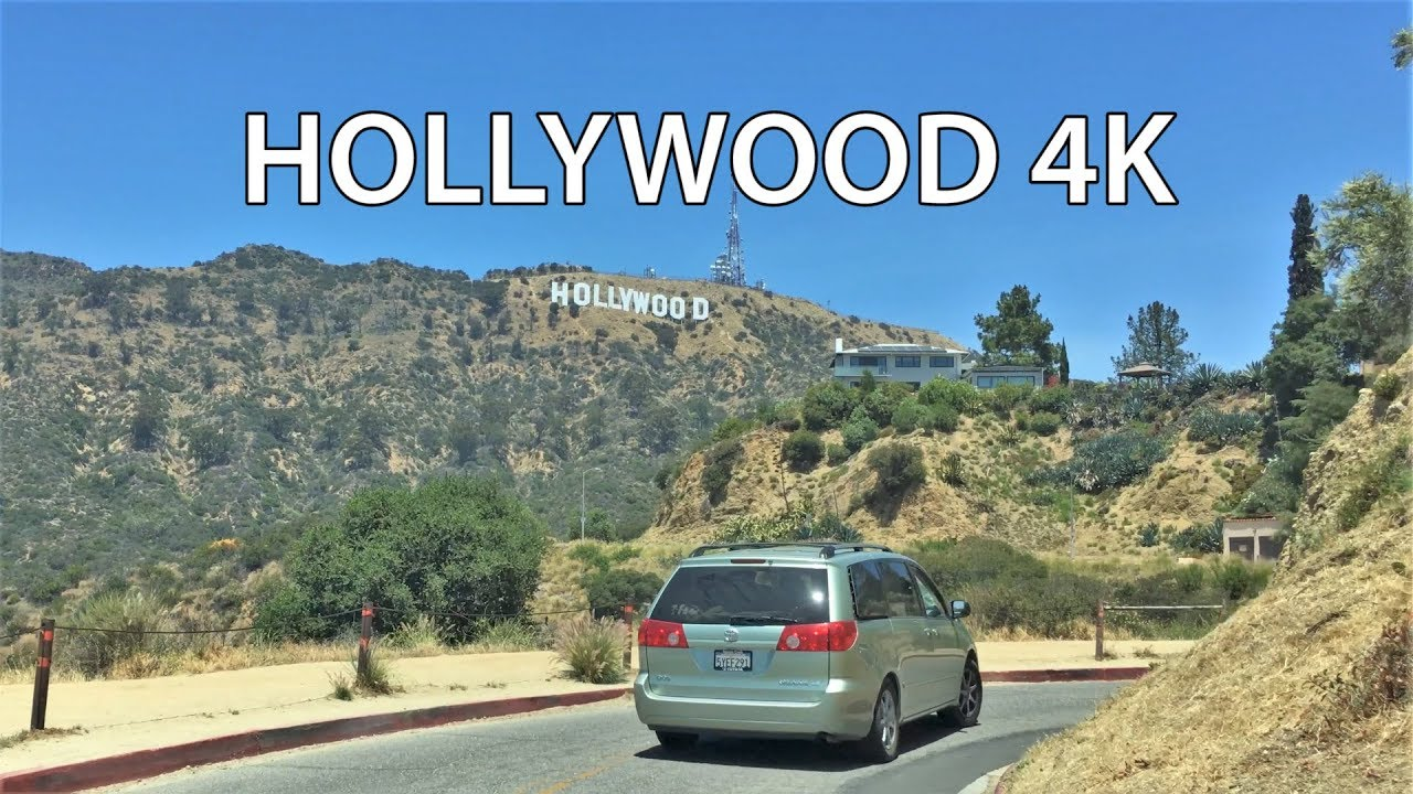 Download Driving Downtown - Hollywood Sign 4K - USA