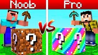 Minecraft: LUCKY BLOCK PARKOUR PRO Vs. NOOB ! ‹ CORUJ4 ›