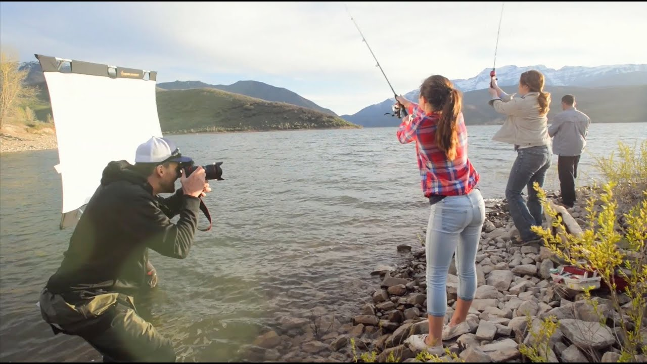 Fly Fishing - Behind the Scenes - Commercial Photo Shoot