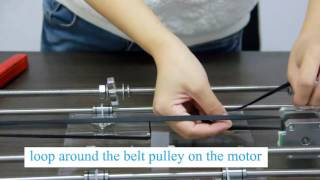 7 Mount the Y –axis belt