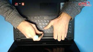 Laptop ta'mirlash. Dell ichida klaviatura almashtirish 3541 tizza o'zgartira klaviatura Inspiron