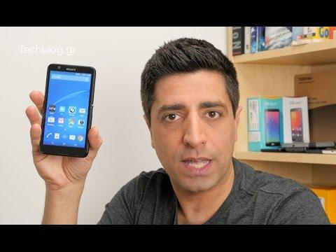 Sony Xperia E4 hands-on (Greek)