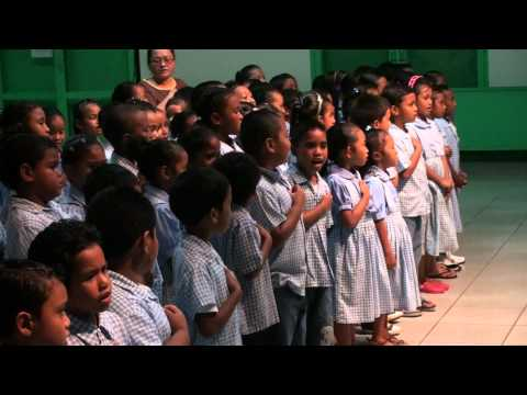 Palau Natl Anthem with 2nd Grade Students and ct of Congress Band