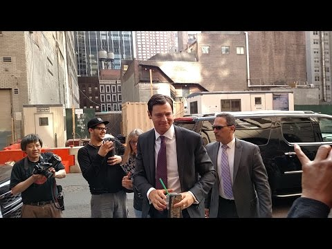 Benjamin Walker at the Late  with Stephen Colbert