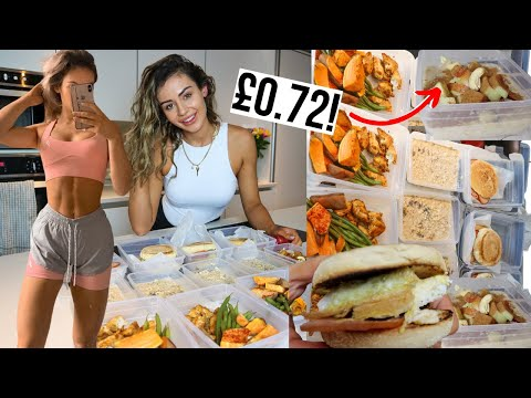 Healthy & Easy Meal Prep on a Budget UNDER £20 **weight loss**