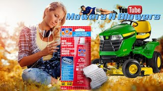 HOW TO CHANGE A RIDING LAWN MOWER TRACTOR ROCKER VALVE COVER GASKET & FIX AN OIL LEAK PERMATEX MAKER