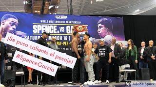 Se calentó el pesaje de Spence Jr y Mikey García.