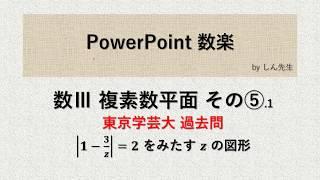 複素数平面 その⑤.1「東京学芸大」アポロニウスの円