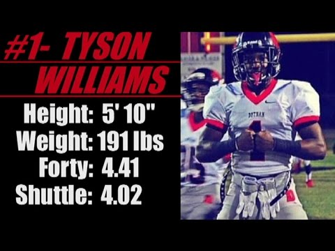 2017- 'Street Light Recruiting' RB- Tyson Williams (5' 10''-191- 4.4 Forty) -Dothan High School (AL)