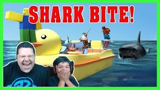 Roblox Shark Bite   Aiden And Zee