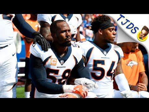 Denver Broncos Take A Knee - Crowd Boos