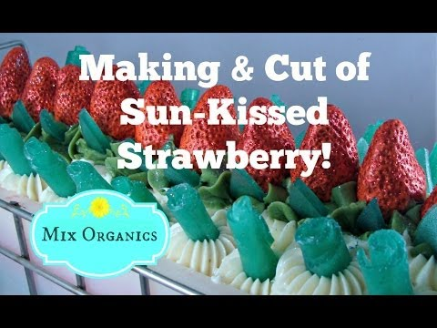 Sun-Kissed Strawberry Cold Process Soap Tutorial