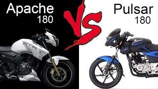 TVS Apache RTR 180 ABS Vs Bajaj Pulsar 180 | Comparison Review (EXTENDED)