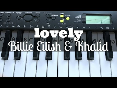 Lovely - Billie Eilish & Khalid | Easy Keyboard Tutorial With Notes