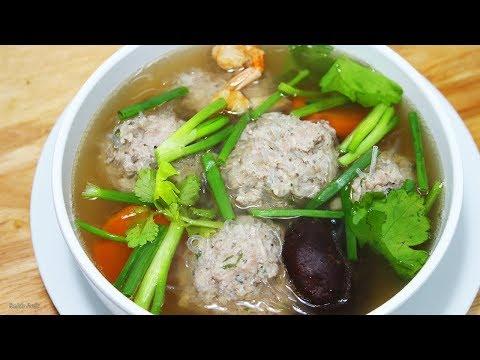 แกงจืดลูกเงาะ น้ำซุปใสหอมอร่อยทำง่าย/Thai Style Minced Pork Soup