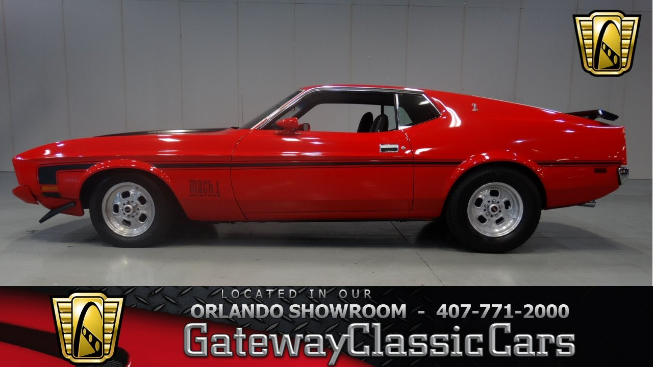 1973 Ford Mustang Mach 1 Gateway Classic Cars Orlando  YouTube