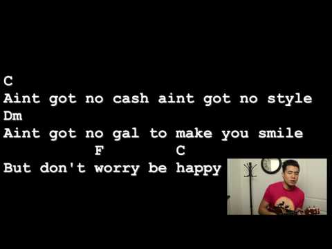 Don't Worry Be Happy - McFerrin [Lyrics And Chords] Ukulele Tutorial