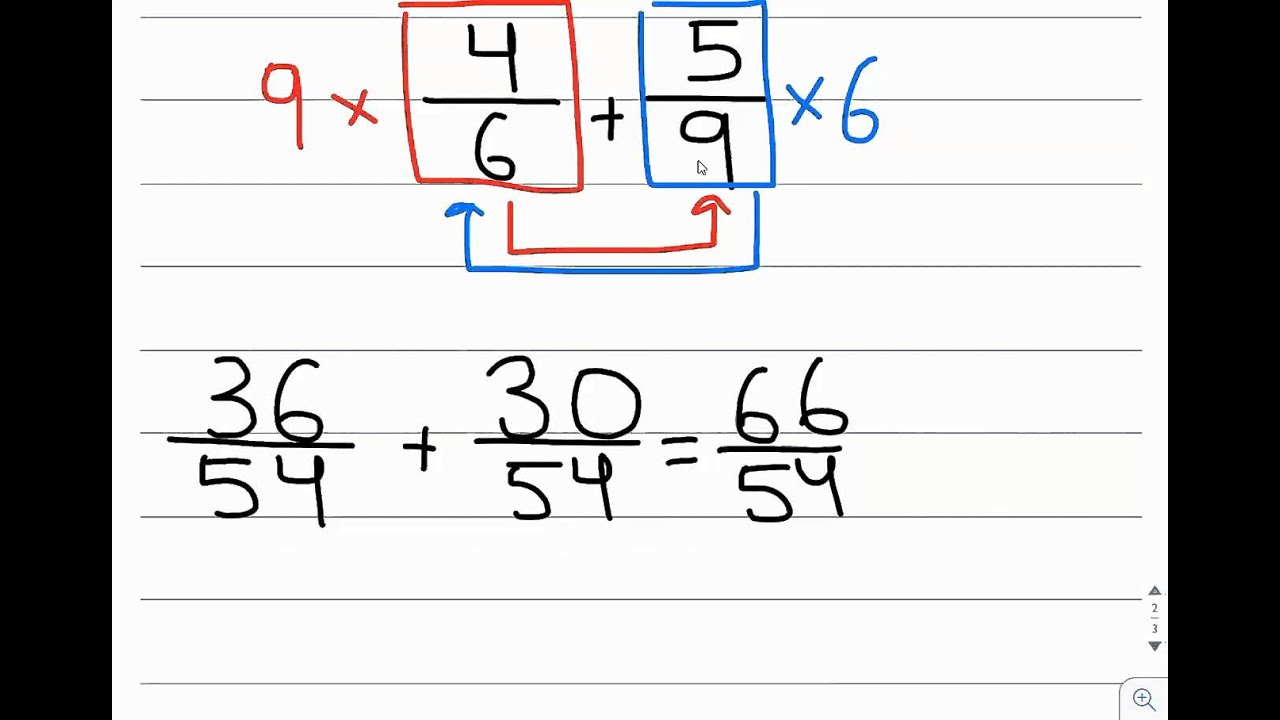 worksheet Adding Three Fractions adding fractions method 3 cross multiply denominators youtube denominators
