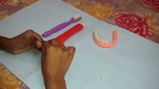 how to make a tooth with clay dough