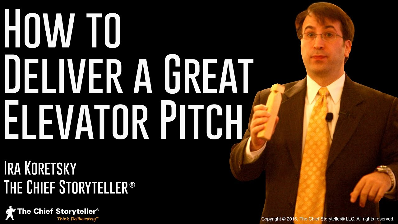 how to deliver a great elevator pitch