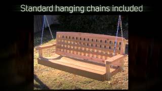 Tmp Outdoor Furniture Lattice Red Cedar Porch Swing