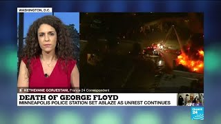 Death of George Floyd: Minneapolis police station set ablaze as unrest continues