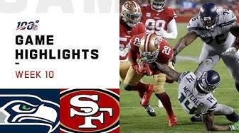 Seahawks vs. 49ers Week 10 Highlights | NFL 2019