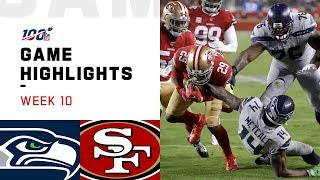 Seahawks vs. 49ers Week 10 Highlights