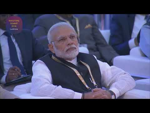 Inauguration of Investors Summit 2018 by Hon'ble PM Narendra Modi in Lucknow HD, WM