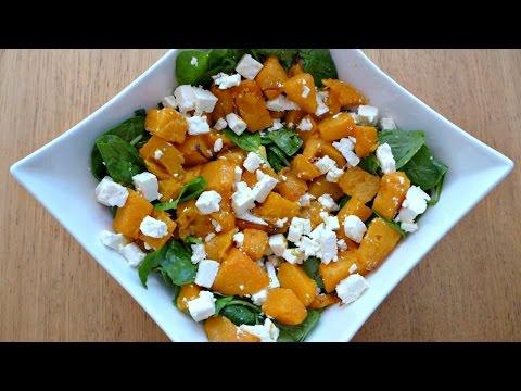 Roasted Pumpkin, Spinach And Feta Salad - Food Blogger Recipe