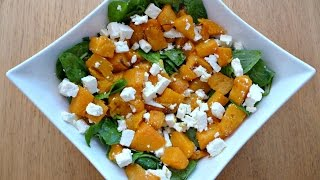 Roasted Pumpkin, Spinach and Feta Salad - Food Blogger Recipe