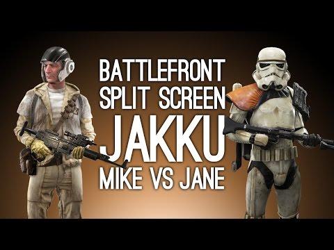 Battlefront Split-Screen Gameplay: MIKE VS JANE (Let's Play Battlefront Skirmish Mode)
