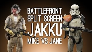 Battlefront Split-Screen Gameplay: MIKE VS JANE (Let's Play Battlefront Skirmish Mode)