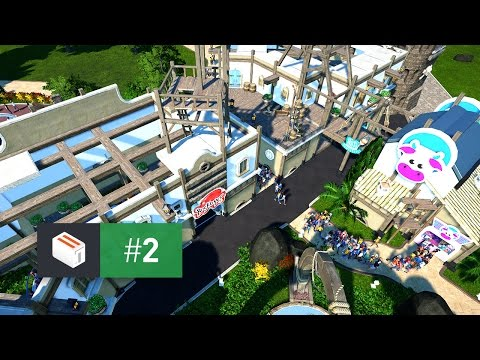 Let's Design Planet Coaster — EP 2 — Embellishing the Courtyard