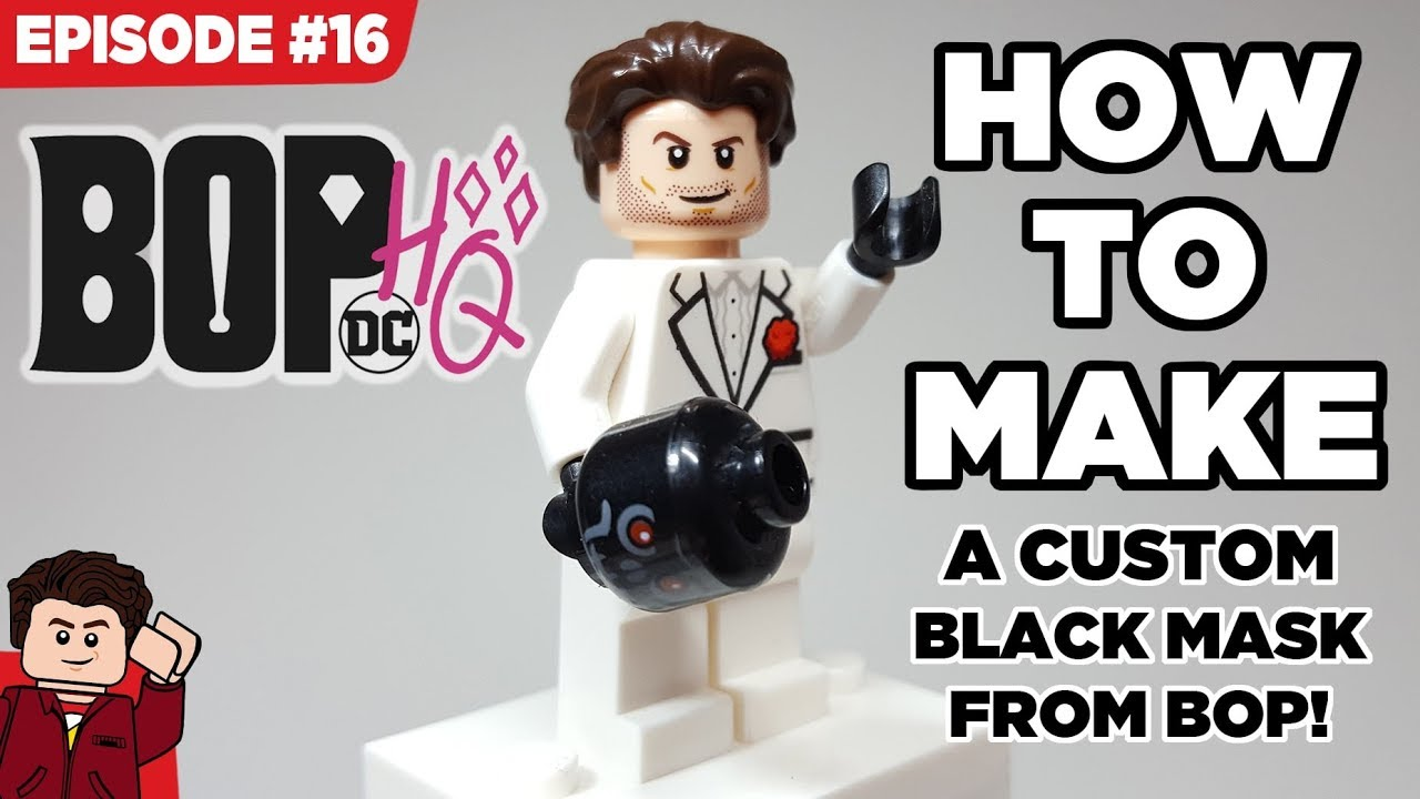 How To Make A Black Mask Minifigure From Birds Of Prey Youtube