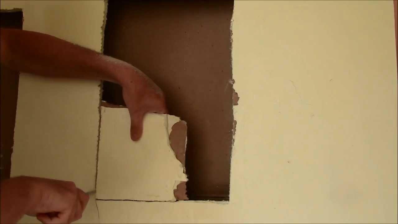 Drywall Repair Tip Cut The Patch