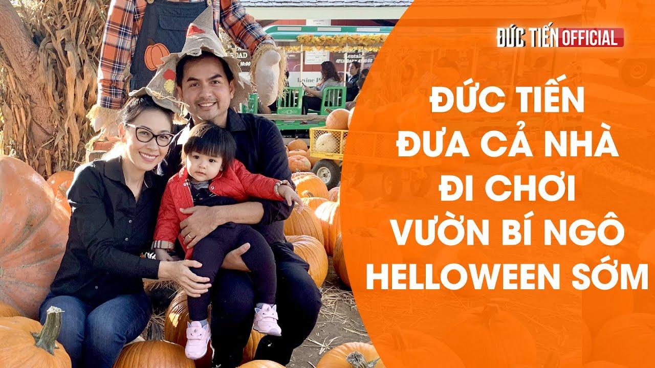 Đức Tiến đưa con gái đi chơi Halloween ở  vườn bí ngô lớn nhất California - DucTien Official