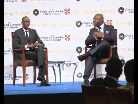 President Kagame gives Spring Lecture at Oxbridge Club- Lagos, 10 November 2012, Part 1/2